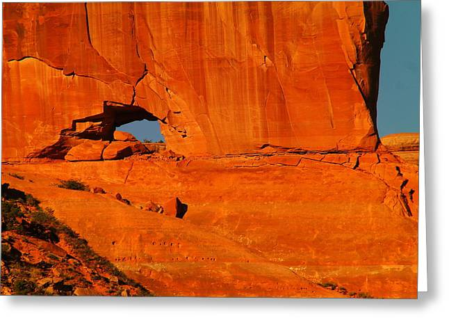 Southwestern Photography Greeting Cards - A Hole In The Rock Greeting Card by Jeff  Swan