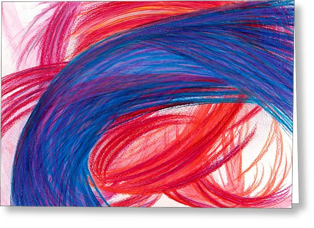 Bright Drawings Greeting Cards - A Passionate Intuition Greeting Card by Kelly K H B