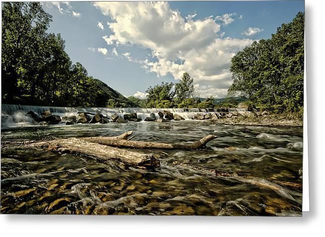 A River Runs Through It Greeting Card by Mountain Dreams