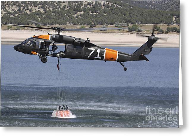 Ocean Photography Greeting Cards - A U.s. Army Uh-60 Black Hawk Helicopter Greeting Card by Stocktrek Images
