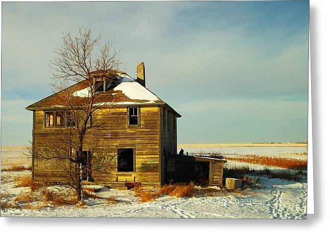 Expired Greeting Cards - Abandoned House Greeting Card by Jeff  Swan