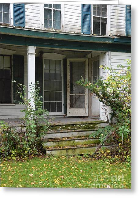 Screened Porchs Photographs Greeting Cards - Abandoned House Greeting Card by Jill Battaglia
