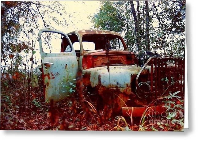 Abandoned  Journey  Greeting Card by Michael Hoard