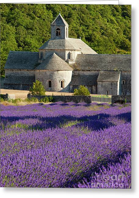 Historic Site Greeting Cards - Abbaye de Senanque Greeting Card by Brian Jannsen