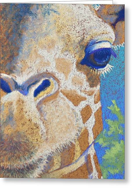 Horns Pastels Greeting Cards - Above the Treetops I Greeting Card by Tracy L Teeter