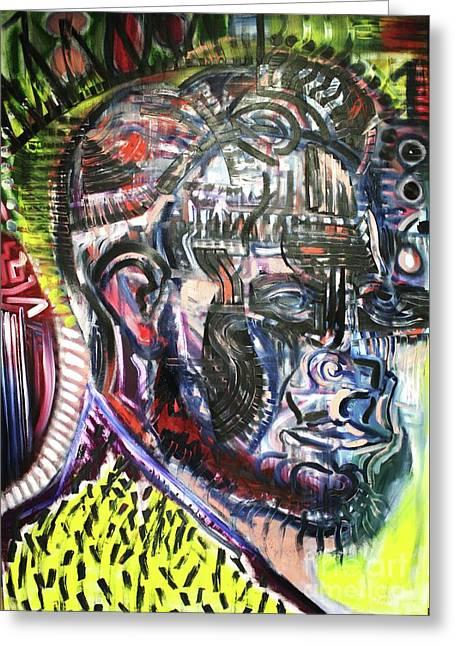 Michael Kulick Paintings Greeting Cards - Abraham Lincoln  Greeting Card by Michael Kulick