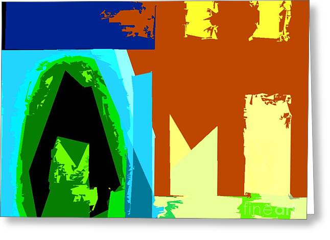 Expressive Arts Mixed Media Greeting Cards - Abstract 223 Greeting Card by Patrick J Murphy