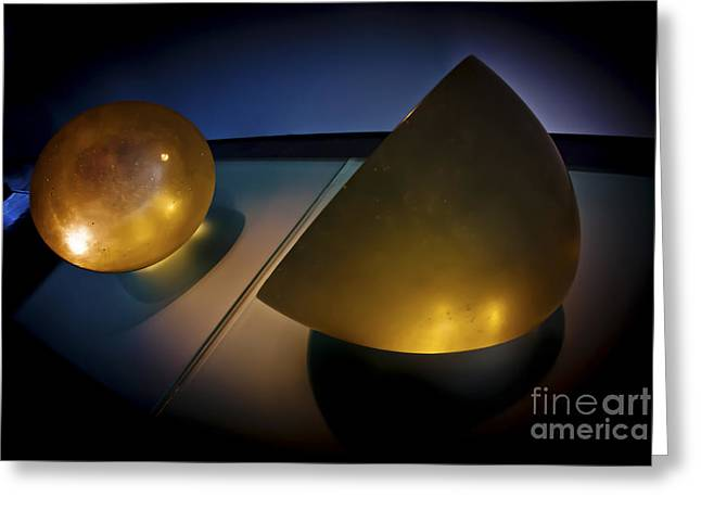 Geometric Shape Greeting Cards - Abstract 3d shapes  Greeting Card by Dan Yeger