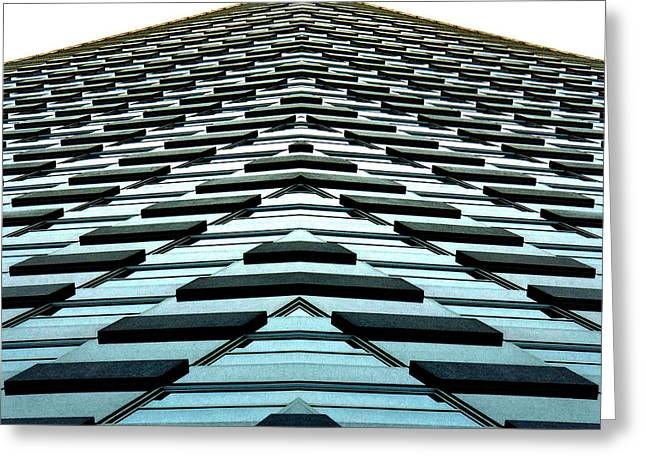 Reflection Greeting Cards - Abstract Buildings 1 Greeting Card by J D Owen