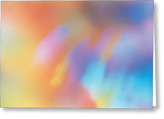 Spectrum Photographs Greeting Cards - Abstract Greeting Card by Panoramic Images
