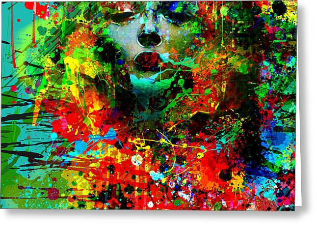 Abstract Portrait Greeting Cards - Abstract Portrait Greeting Card by Gary Grayson