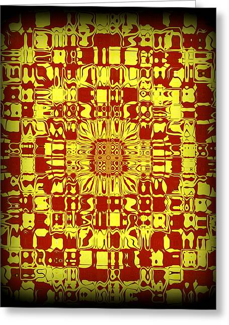 Reflective Greeting Cards - Abstract Series 10 Greeting Card by J D Owen