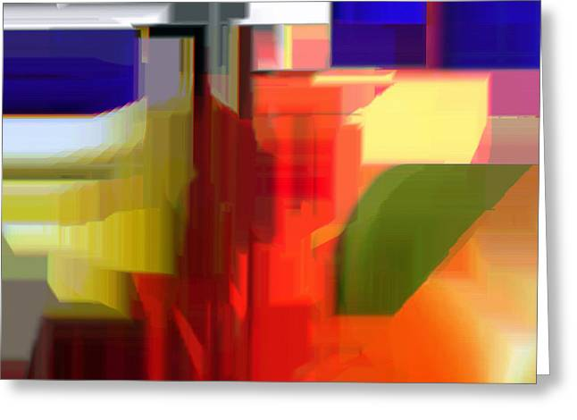 Shower Curtain Greeting Cards - Abstract Series V Greeting Card by Rafael Salazar