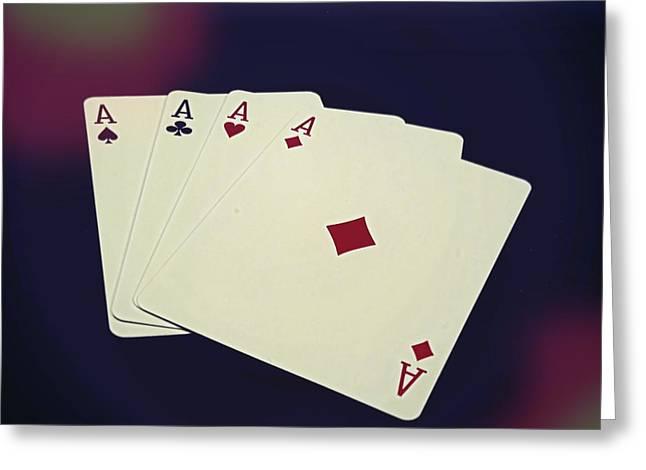 Playing Cards Greeting Cards - Aces Greeting Card by Douglas Miller