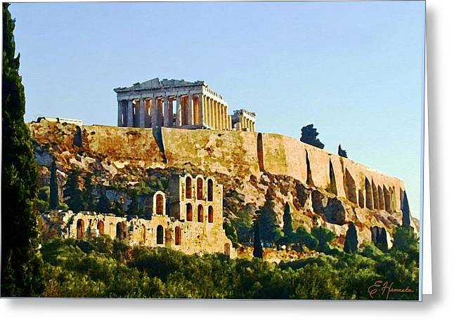 Acropolis Greeting Cards - Acropolis Greeting Card by Ellen Henneke