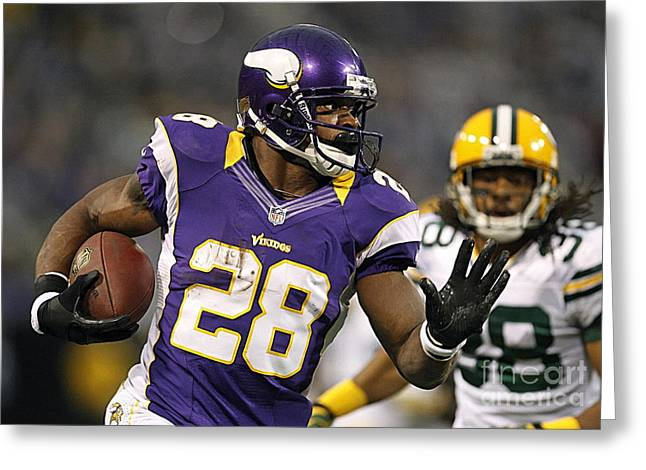 Adrian Peterson Greeting Cards - Adrian Peterson Greeting Card by Marvin Blaine