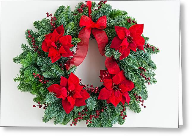 Advent Greeting Cards - Advent wreath with winter rose Greeting Card by Ulrich Schade