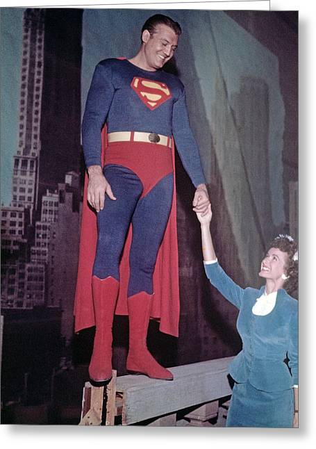 Reeves Greeting Cards - Adventures of Superman  Greeting Card by Silver Screen