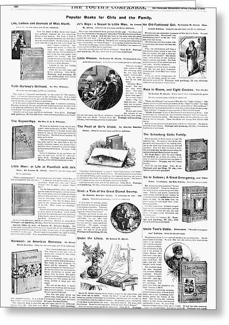 Advertisement Books, 1890 Greeting Card by Granger