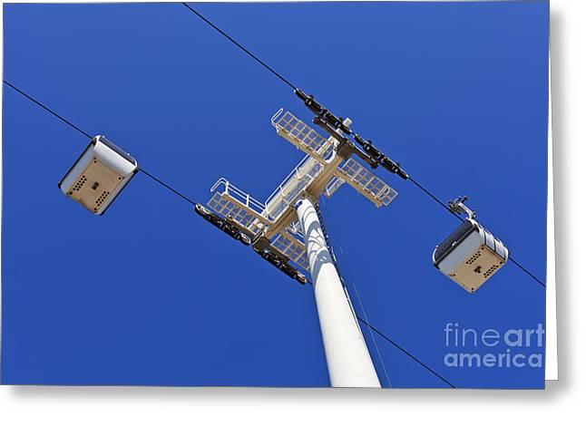 Aerial Tramway Greeting Cards - Aerial Tramway Greeting Card by Jose Elias - Sofia Pereira