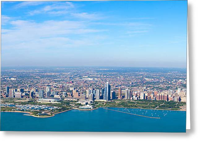 Trump Hotel Greeting Cards - Aerial View Of A Cityscape, Trump Greeting Card by Panoramic Images