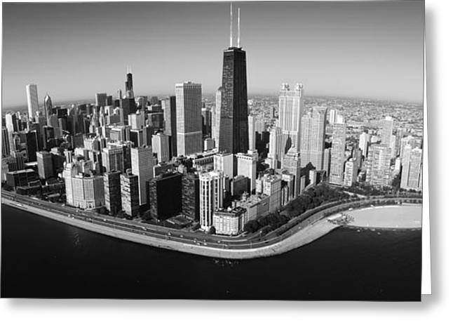 Fish Eye Lens Greeting Cards - Aerial View Of Buildings In A City Greeting Card by Panoramic Images