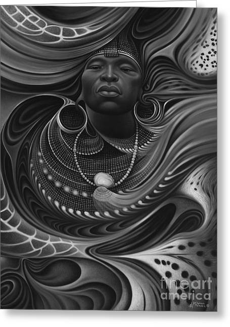 Brown Tones Greeting Cards - African Spirits I Greeting Card by Ricardo Chavez-Mendez