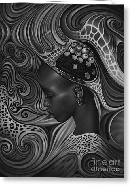 African Spirits II Greeting Card by Ricardo Chavez-Mendez
