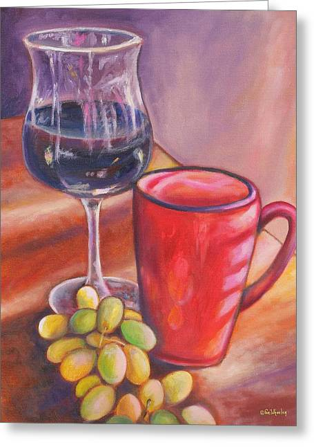 Table Wine Greeting Cards - After Dinner Treats Greeting Card by Eve  Wheeler
