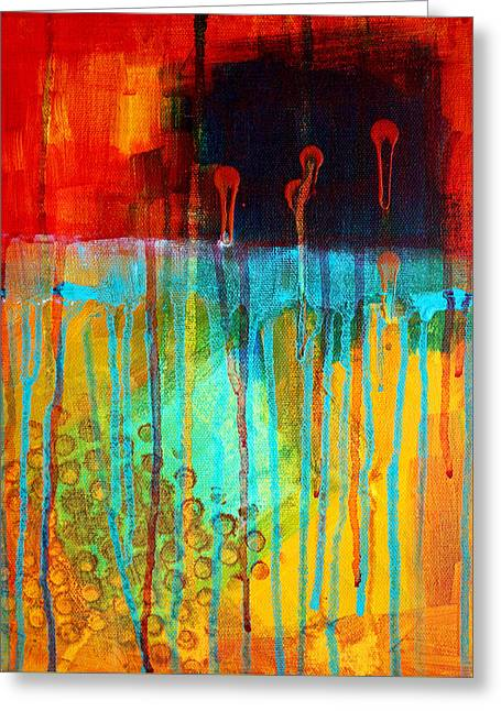 Abstract Movement Greeting Cards - After Midnight Greeting Card by Nancy Merkle