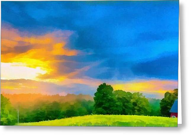 Raining Greeting Cards - After the storm passes Greeting Card by Edward Fielding