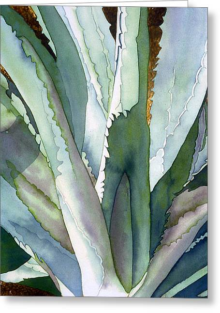 Best Sellers -  - Botanical Greeting Cards - Agave 1 Greeting Card by Eunice Olson