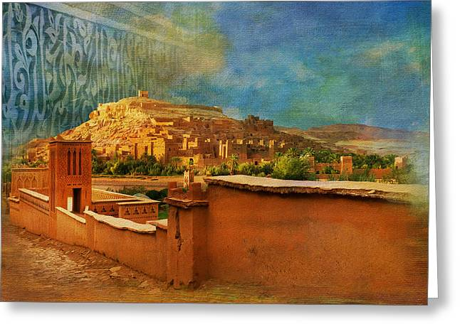Lord Paintings Greeting Cards - Ait Benhaddou  Greeting Card by Catf