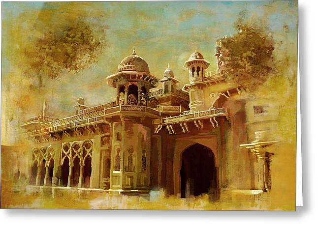 Iqbal Greeting Cards - Aitchison College Greeting Card by Catf