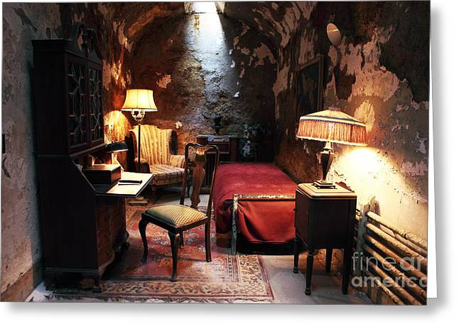 Al Capone's Cell Greeting Card by John Rizzuto