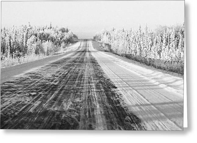 Coldness Greeting Cards - Alaska Highway 1 Greeting Card by Juergen Weiss