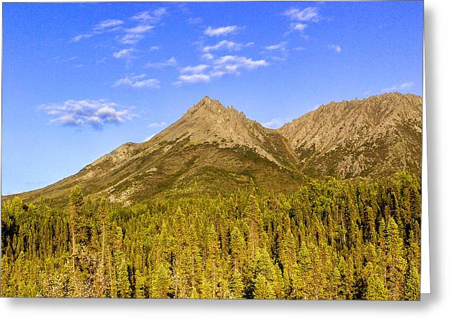 Nature. Clouds Greeting Cards - Alaska Mountains Greeting Card by Chad Dutson