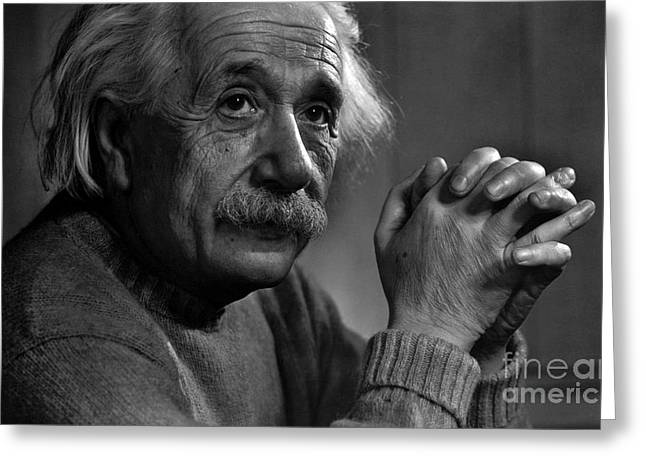 Aquired Greeting Cards - Albert Einstein Greeting Card by Unknown
