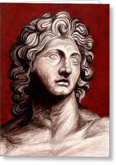 Great Sculptures Greeting Cards - Alexander The Great Greeting Card by Thiras art