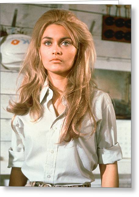 Alexandra Greeting Cards - Alexandra Bastedo in The Champions Greeting Card by Silver Screen