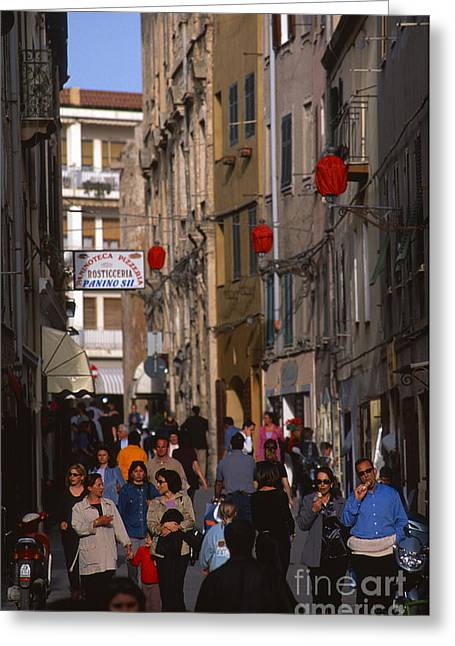 Socialization Greeting Cards - Alghero Greeting Card by Chris Selby