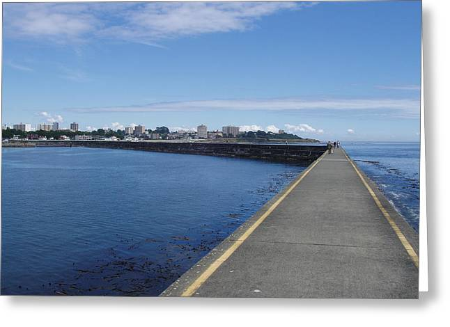 Deep Bay British Columbia Greeting Cards - Along the Breakwater Greeting Card by Marilyn Wilson