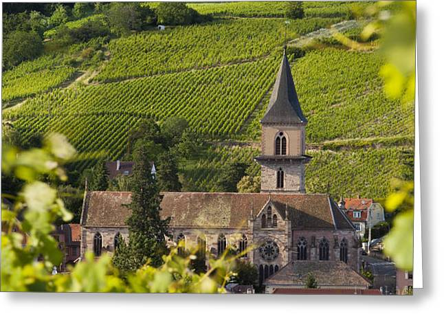 Alsace Church Greeting Card by Brian Jannsen