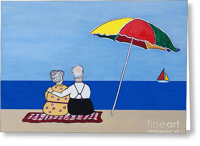 Sailboats In Water Greeting Cards - Always Together Greeting Card by Barbara McMahon