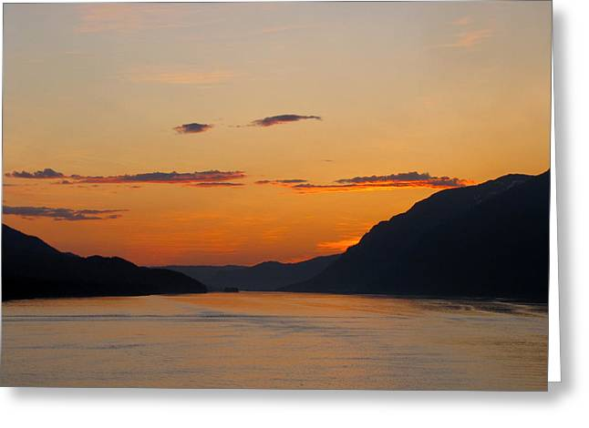 Ocean Photography Paintings Greeting Cards - 2 AM on the Inside Passage  Greeting Card by Phil Welsher