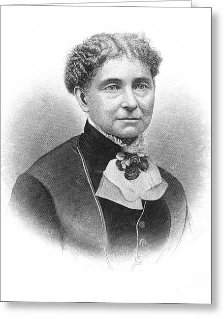 Womans Rights Movement Greeting Cards - Amelia Jenks Bloomer, American Activist Greeting Card by Photo Researchers