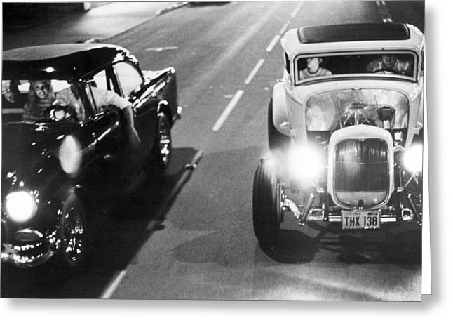 Mat Greeting Cards - American Graffiti  Greeting Card by Silver Screen