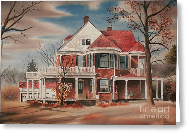 American Home Iii Greeting Cards - American Home III Greeting Card by Kip DeVore