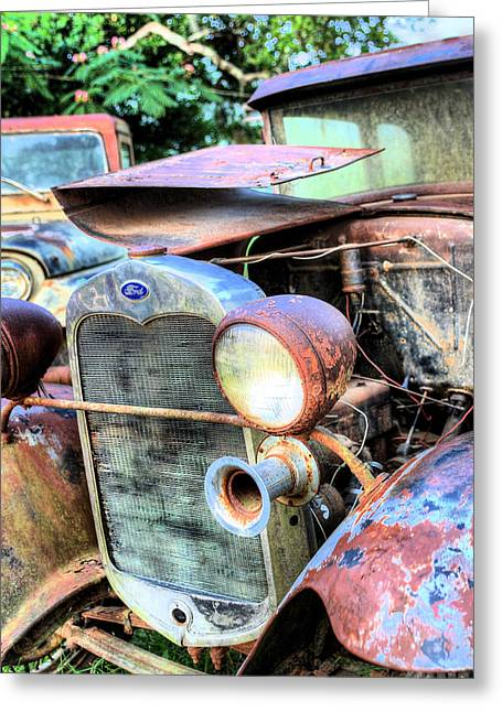 Cj-5 Greeting Cards - American Metal Greeting Card by JC Findley