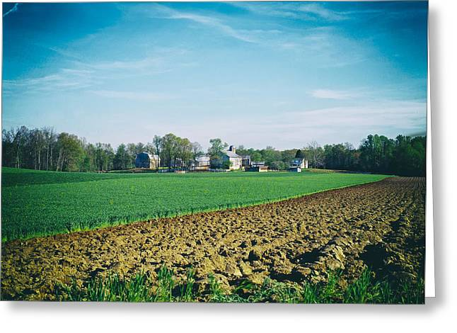 Amish Greeting Cards - Amish Farm in Pennsylvania Greeting Card by Mountain Dreams
